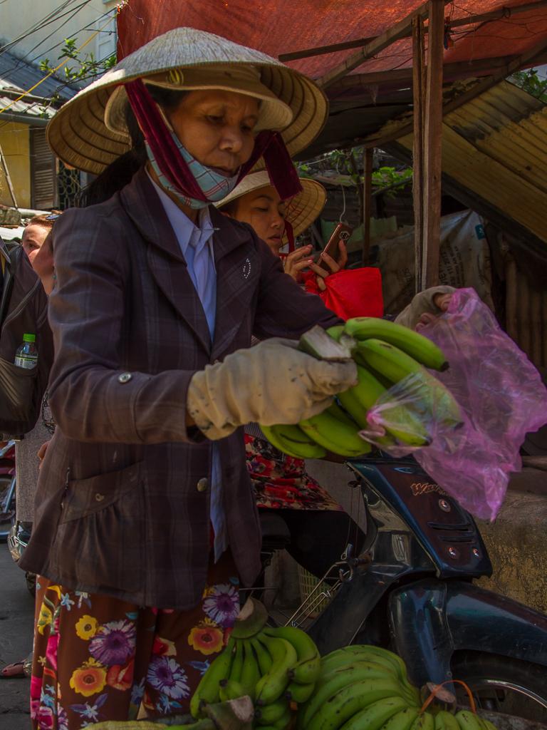 bananen verkoopster