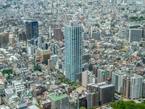 uitzicht over Tokyo