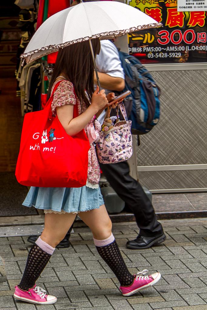 Tokyo, tegen de zon